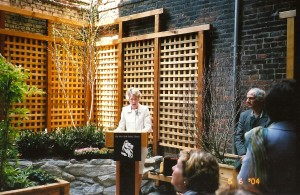 Dedication of the Aguilar Garden